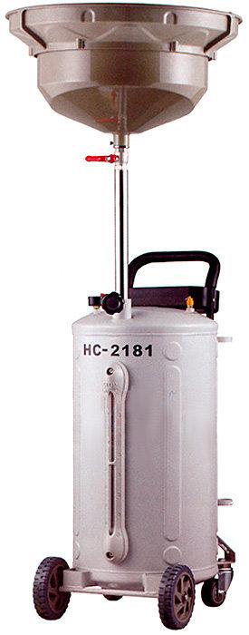Pojízdná odsávačka, pneumatická nádoba na vyjetý olej (80L)- HC-2181
