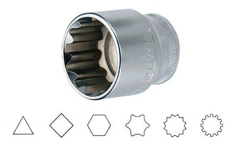 """Hlavice 1/2"""" multiprofilová 11mm Jonnesway SuperTech"""