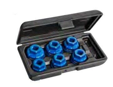 Sada hliníkových hlavic na víčka olejových fitrů 6ks - Tona Expert E200239