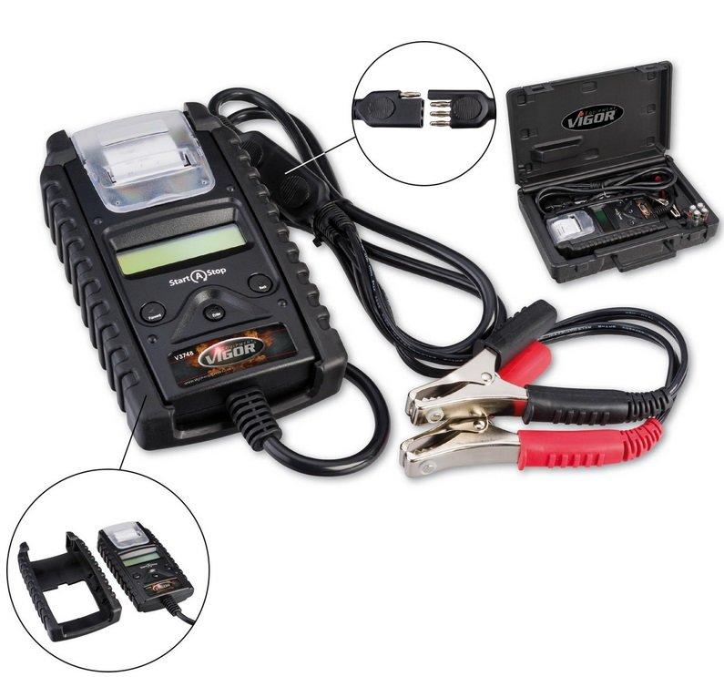 Zkoušečka baterií a zkoušečka systémů nabíjení s termotiskárnou - Vigor V3748