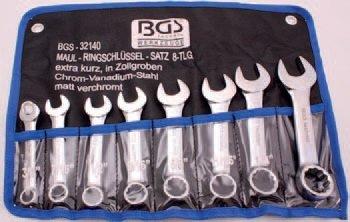 Klíče očkoploché, palcové 8ks - BGS 32140