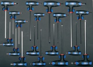 Modul - klíče imbus, torx s T-rukojetí, 18ks - BGS 4010