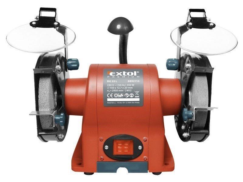 Bruska stolní dvoukotoučová, 350W, 150x12,7x š.20mm, BG 35L - EXTOL PREMIUM 8892110
