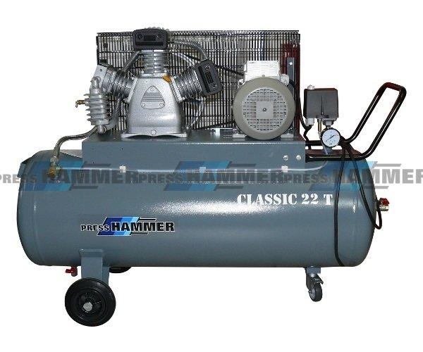 Pístový kompresor 100l 3kw- PRESS-HAMMER Classic 22T/100
