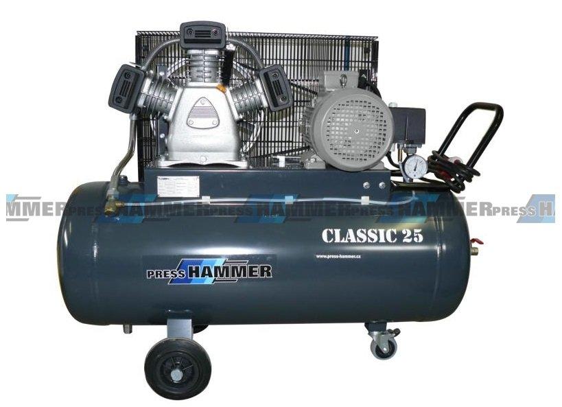 Pístový kompresor 100l 3kw- PRESS-HAMMER Classic 25/100