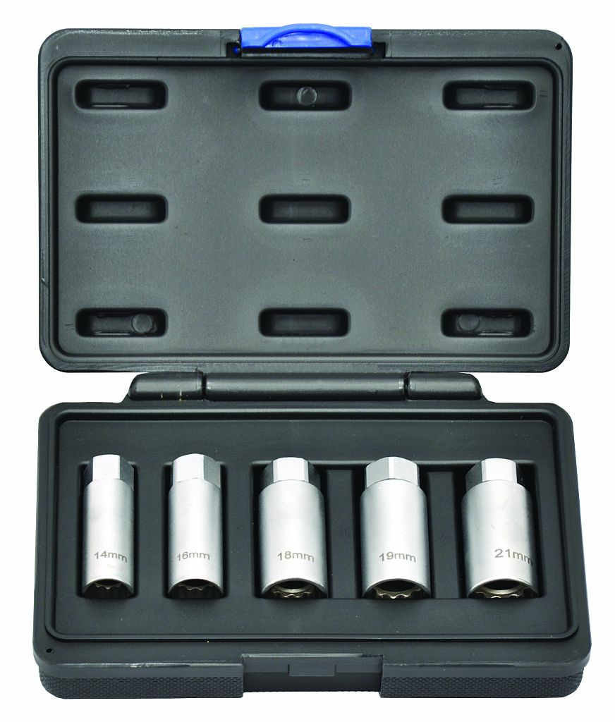 Sada klíčů na zapalovací svíčky 14, 16, 18, 19, 21mm