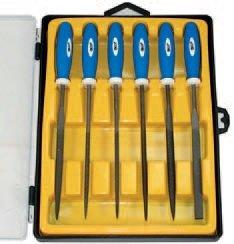 Pilníky jehlové s rukojetí - 6ks BGS 19111