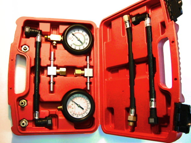 Univerzální tester tlaku paliva, oleje a komprese pro motocykly