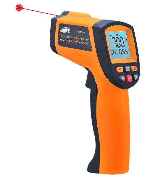 Infračervený laserový bezdotykový teploměr -50°C až +700°C - IRT700