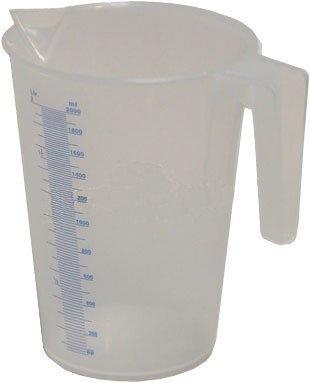 Průhledná polypropylénová odměrná nádobka 0,25 l