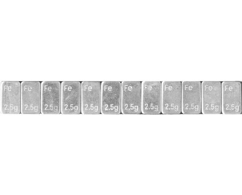 Samolepící závaží nízké 12x2,5g, pásek 30g, pozinkované - 1 kus
