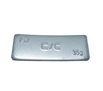 Samolepící závaží, 35g, šedý lak - 1 kus