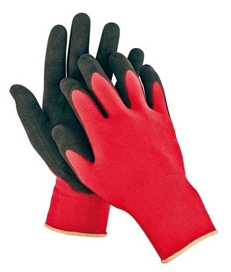 Rukavice nylonové s hrubší nitrilovou dlaní - velikost 10 - FIRECREST