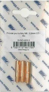 Průvlak pro hořáky M6 - 0,6mm CO - 3ks