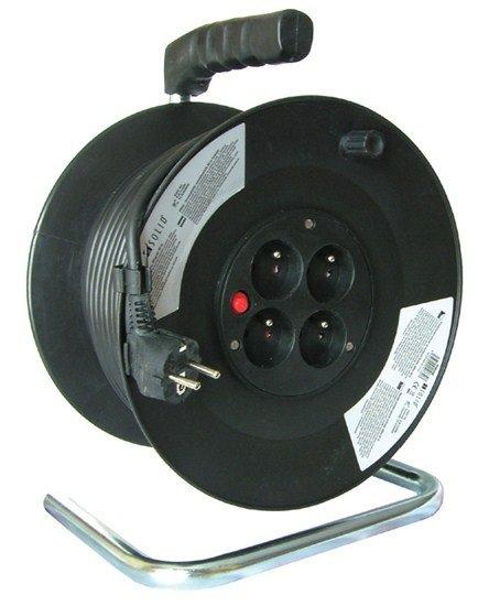 Prodlužovací kabel 3x1,5mm2 buben 25m, 4x zásuvka