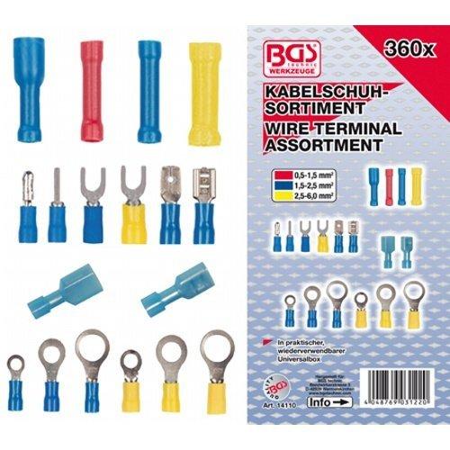Kabelová oka, konektory, spojky, 360 dílů- BGS 14110