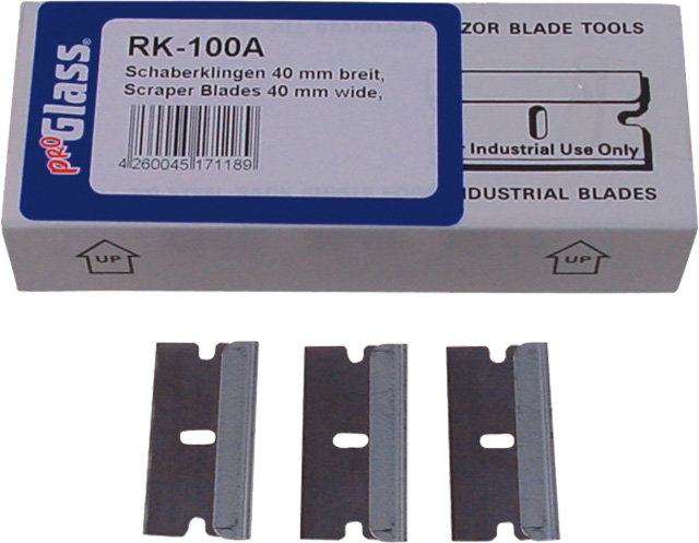 Náhradní čepel do šrabky skla 40mm 100ks-PROGLASS RK-100A