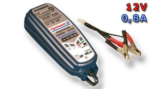 Automatická nabíječka OPTIMATE 3 (12V/0,8A) - TecMate TM430