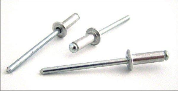 Trhací nýty hliník/ocel průměr 4,8mm s plochou hlavou (různé délky)- 50ks