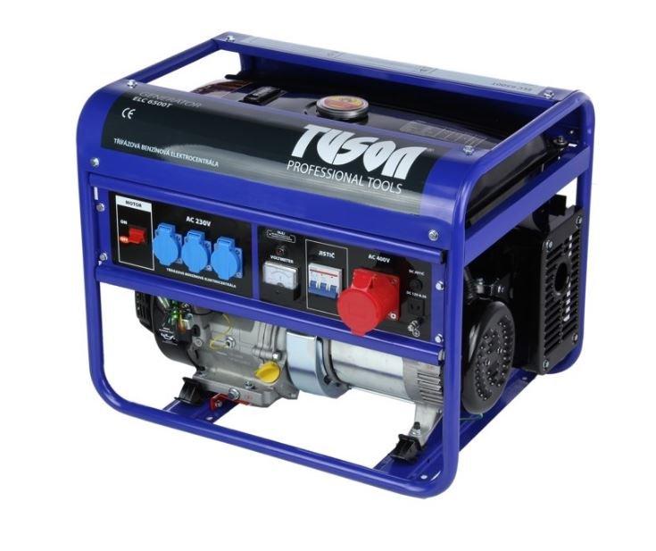 Benzínová elektrocentrála 5000W OHV, AVR, třífázová - TUSON  ELC6500T