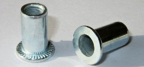 Ocelové nýtovací matice, plochá hlava PH ( různé velikosti)