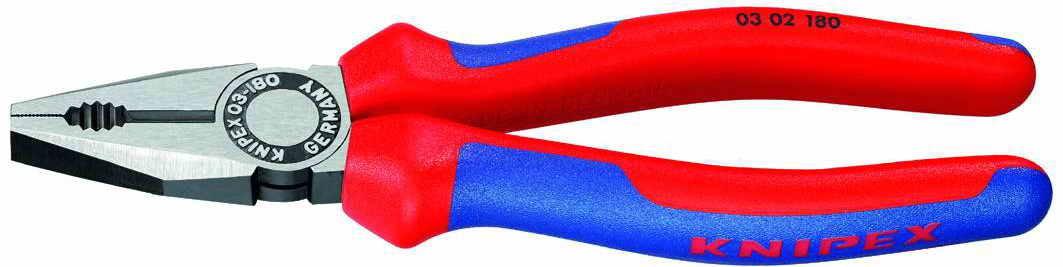 Kleště kombinované 180, potah PVC - KNIPEX 0302180