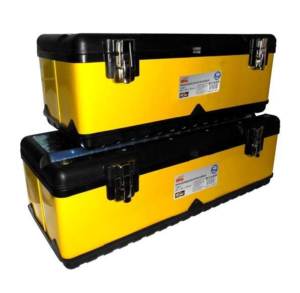 Profesionální kufr na nářadí - kov + plast (580 x 280 x 220mm) - MAGG 120013