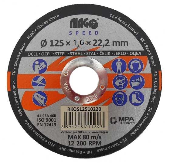 Řezný kotouč na kov 125x1,6x22mm - MAGG Speed