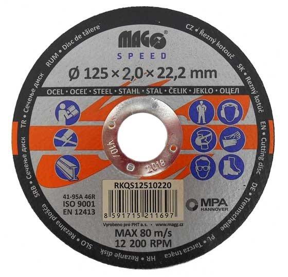 Řezný kotouč na kov 125x2,0x22mm - MAGG Speed