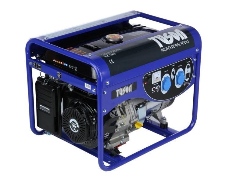 Benzínová elektrocentrála 4000W OHV, AVR, jednofázová - TUSON ELC5000