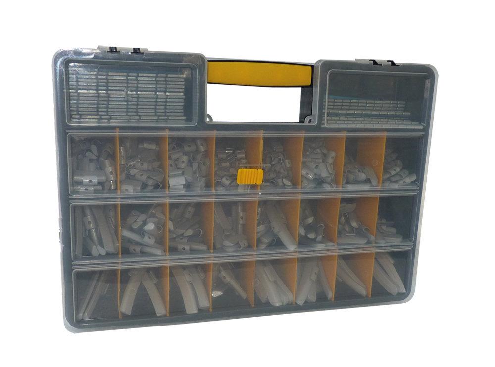 Kufr s vyvažovacím závažím 24 přihrádek 450 x 320 x 80 mm