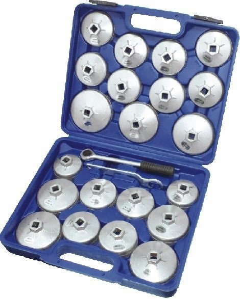 Klíče na olejové filtry, sada 22 kusů - QUATROS QS64111