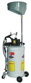 Pojízdná pneumatická nádoba na olej s odsávačkou