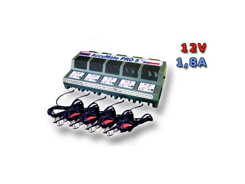 Nabíječka ACCUMATE PRO 5 (5x12V/1,8A) TM130