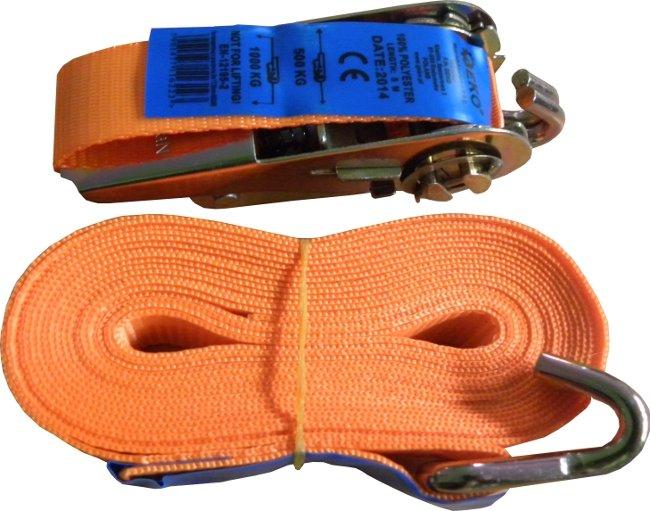 Upínací pás s ráčnou a háky 1T/5m/25mm