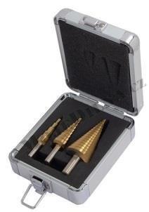 Stupňovité vrtáky, sada 3 kusů 4-32mm - QUATROS QS14414