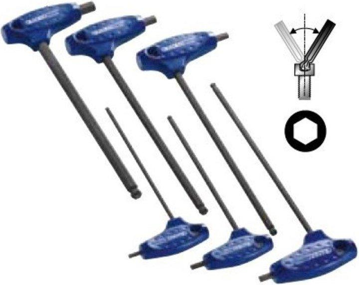 Sada 6 zástrčných klíčů imbus s kuličkou a  T rukojetí  Tona Expert (E121203T)