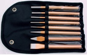 Vyrážeče, sekáče, důlčík, sada 8 dílů Cr-V - BGS 1658