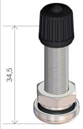 Bezdušový ventil V1.10.1 stříbrný