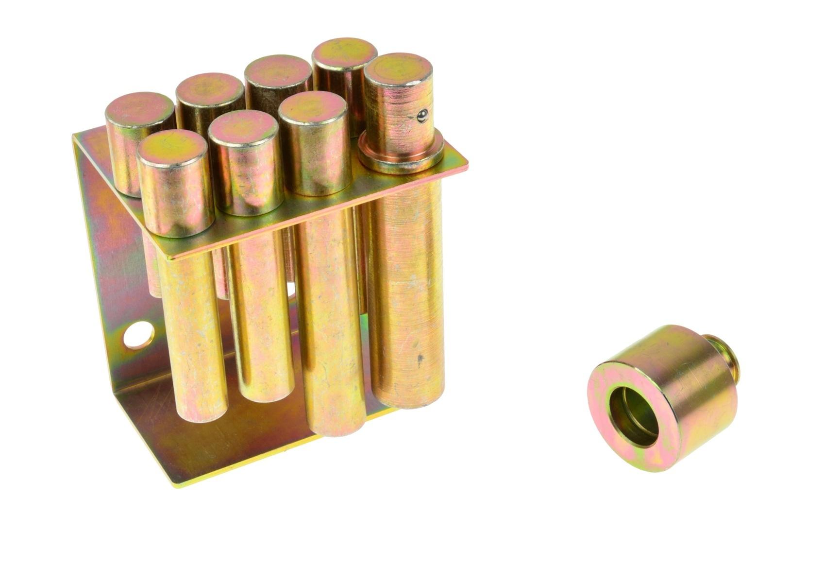 Adaptéry - kolíky do dílenského lisu, průměr 10 - 30 mm, sada 8 kusů