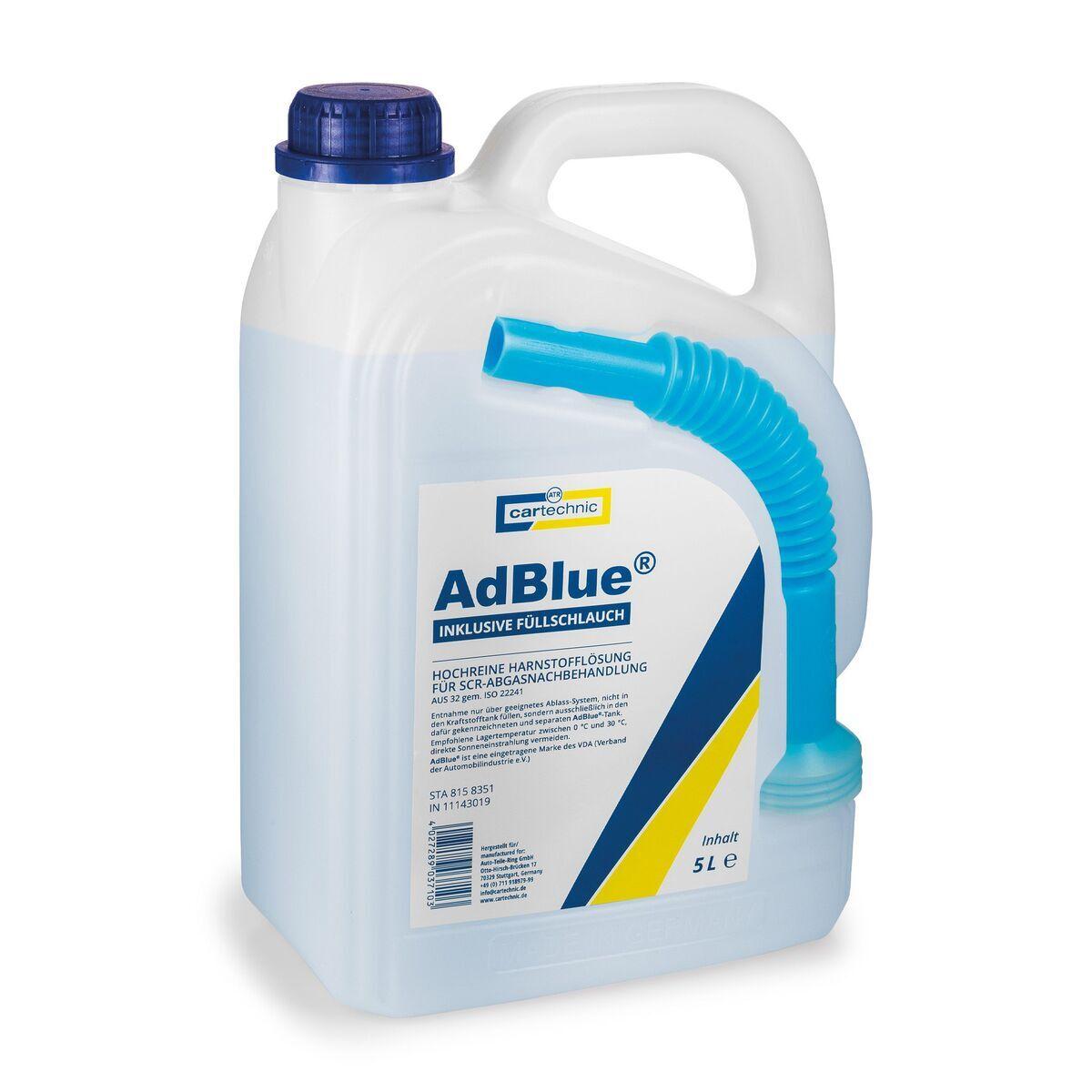 AdBlue - katalytické činidlo SCR, 5 litrů - Cartechnic