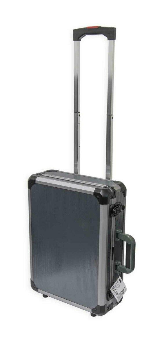 Kufr na nářadí pojízdný, 465 x 345 x 142 mm, hliníkový, vysouvací rukojeť