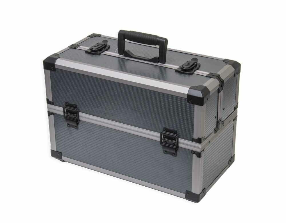 Kufr na nářadí rozkládací 450 x 225 x 300 mm, hliníkový, otevírání do stran