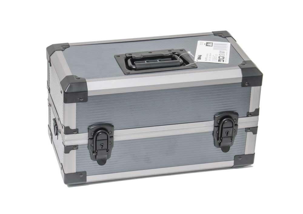 Kufr na nářadí rozkládací, 350 x 180 x 200 mm, hliníkový, odklápěcí