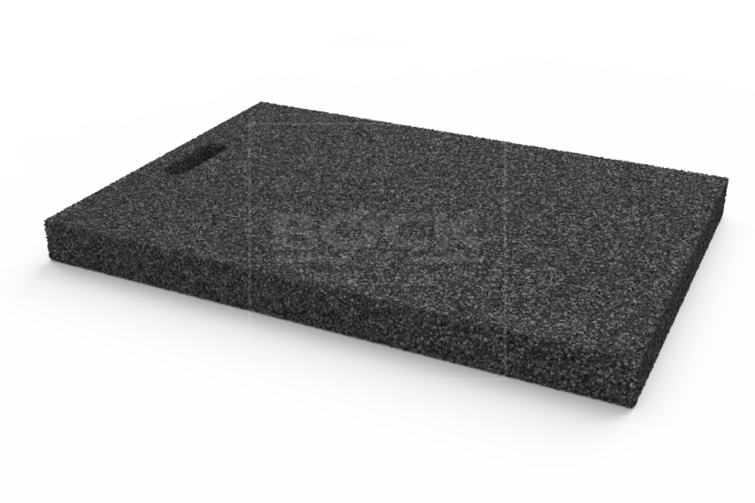 Výplňová podložka 600x450x50 mm, gumová, pro pro čtyřsloupové a nůžkové zvedáky