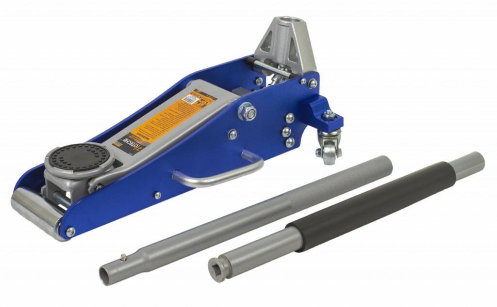 Hydraulický zvedák pojízdný 1,5 t, nízkoprofilový, 90-358 mm, hliníkový - HOTECHE