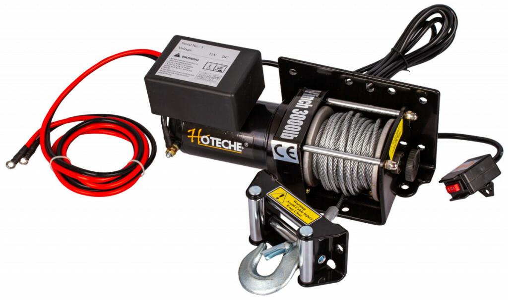 Elektrický lanový naviják 1000 W/12 V, max. zatížení 1361 kg - HOTECHE