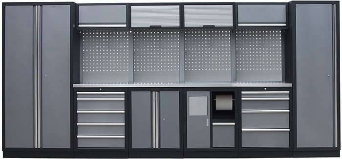 Sestava kovového dílenského nábytku PROFI PRESTIGE COMBI 4 - Genborx
