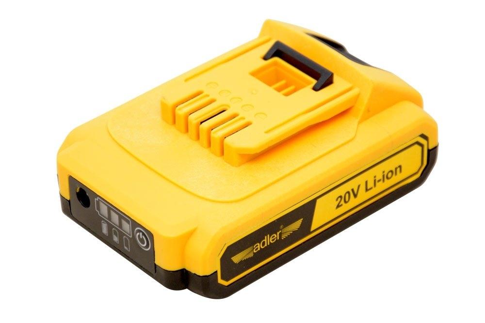 Baterie - akumulátor Li-Ion 2.0 Ah 20 V, pro AKU nářadí - ADLER 3411.2
