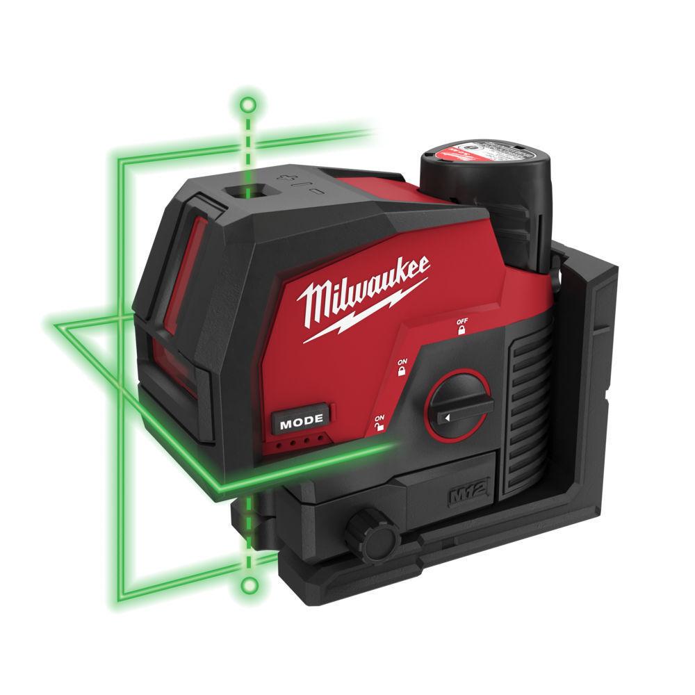 Aku křížový laser kombinovaný 3,0 Ah - Milwaukee M12 CLLP-301C